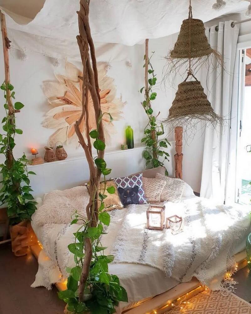 10 a Bohemian Style Bedroom idea via Simphome