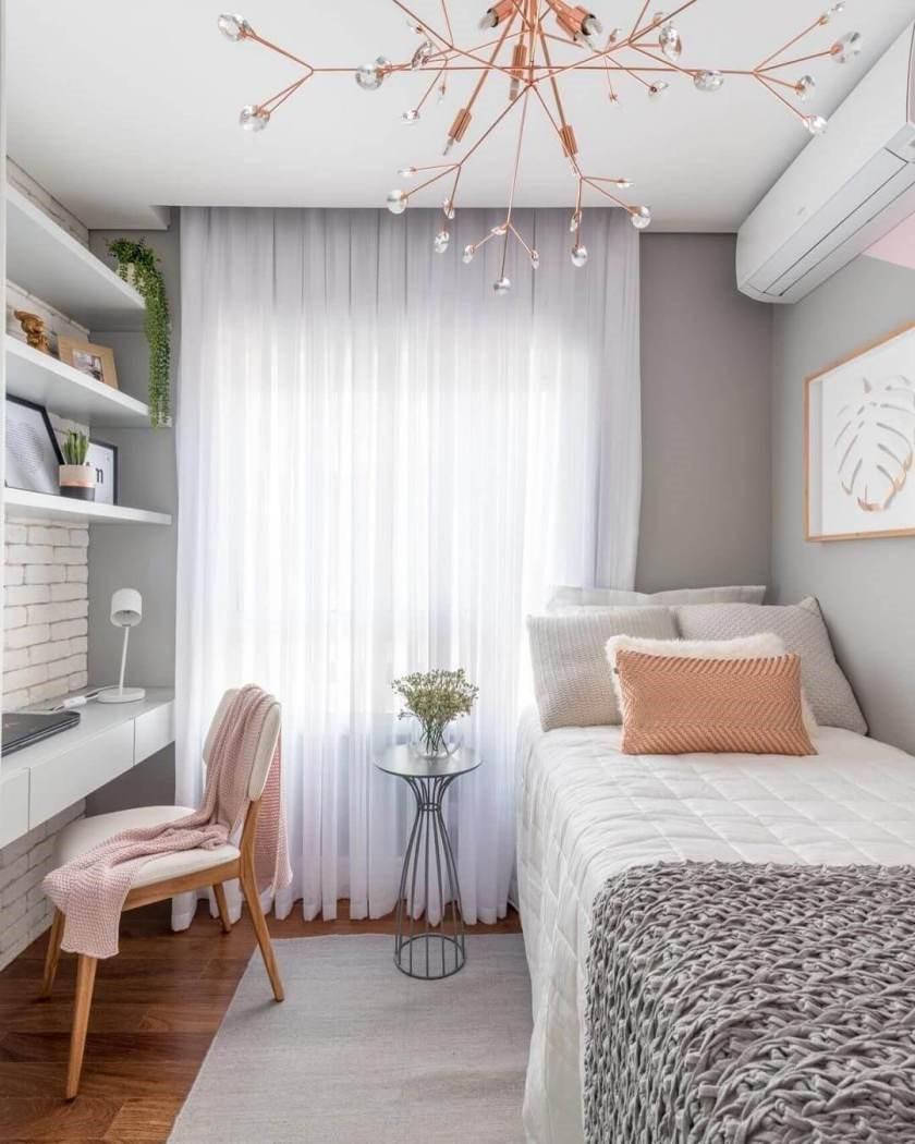 2 A Feminine Small Bedroom via Simphome