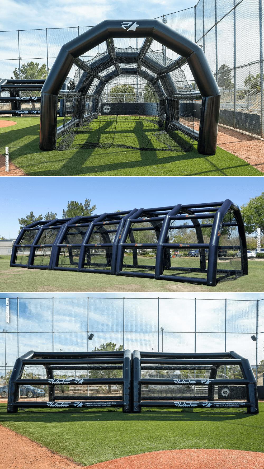 2.Inflatable Batting Cage via Simphome.com