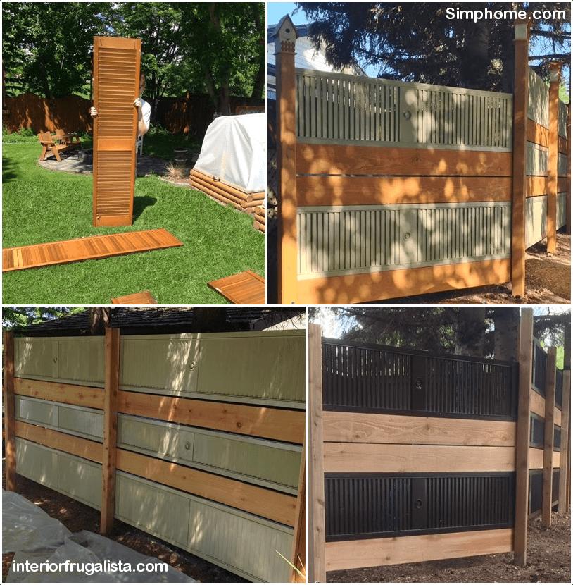 2.Repurposed Bi Fold Door Fence by Simphome.com