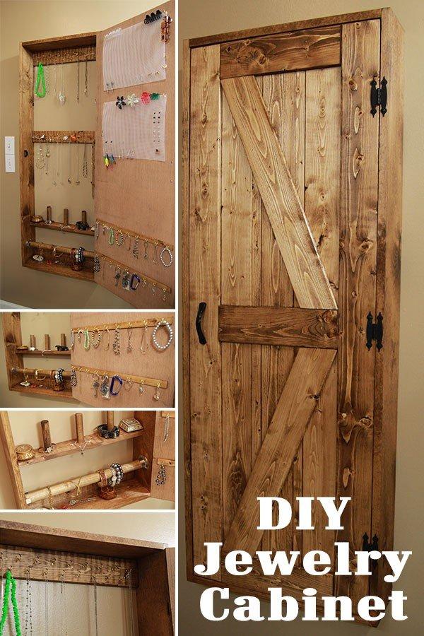 3 Jewelry Cabinet from Old Barn Door via Simphome