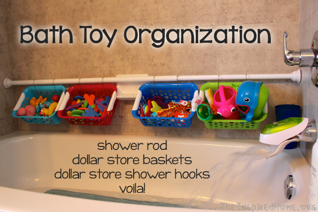 4 Bath Toy Storage Baskets via Simphome