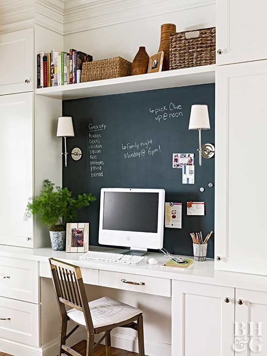 4 Chalkboard Accent Wall via simphome
