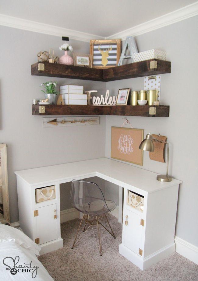 4 DIY Corner Desk via simphome