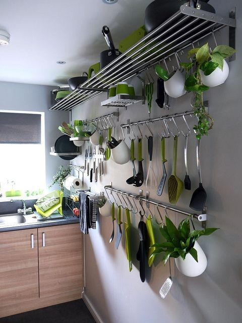 4 Open Shelves Plus Greenery via Simphome