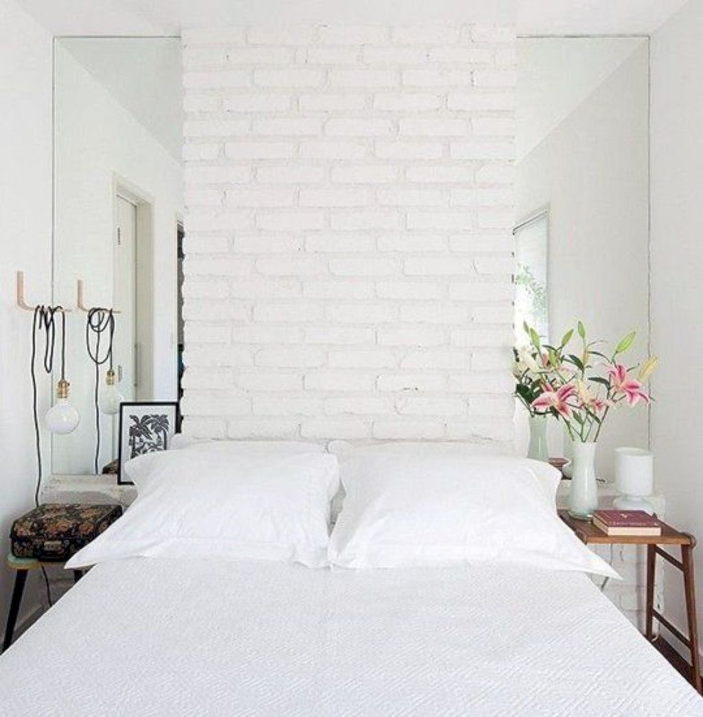 4 White Bedroom with Mirrors via Simphome