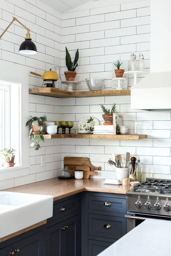4 an Easy DIY kitchen Corner Shelving idea via Simphome