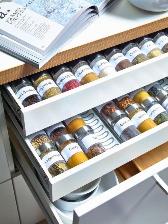 5 IKEA Spice Organizer idea via Simphome com