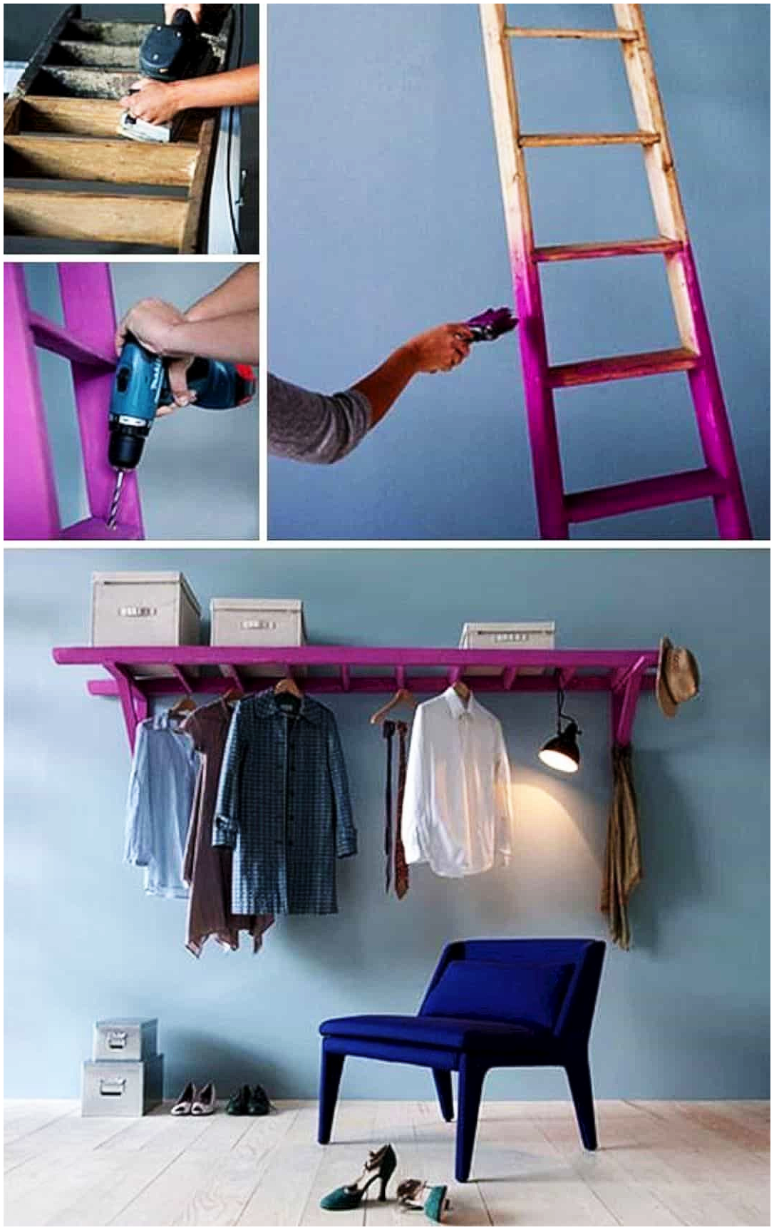 5 Ladder Wardrobe via Simphome