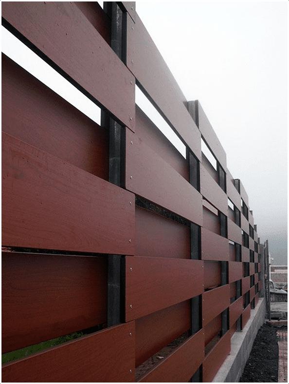 5.Modern Horizontal Wood Fence via Simphome.com
