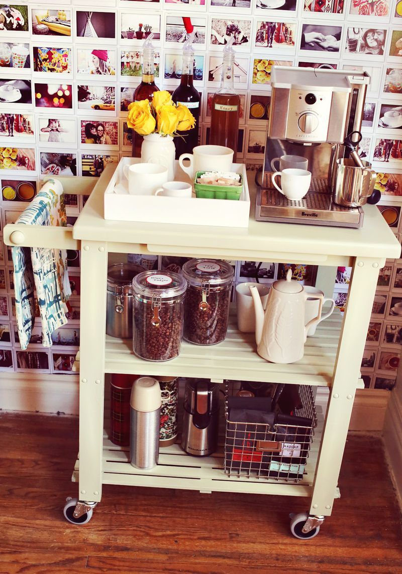 6 Stylish Espresso Cart via Simphome