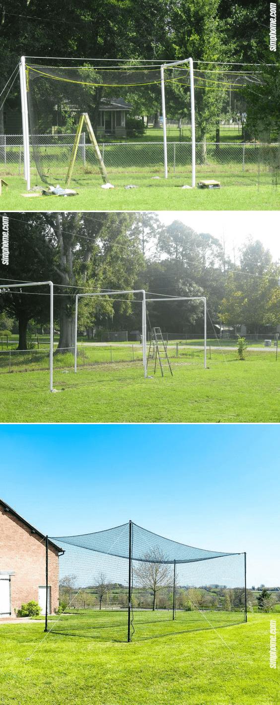 6.PVC Batting Cage idea via Simphome.com