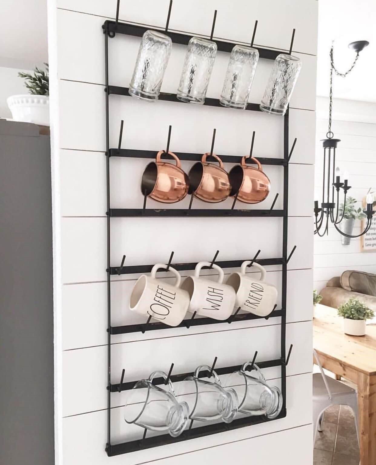 7 DIY Wrought Iron Rack via Simphome