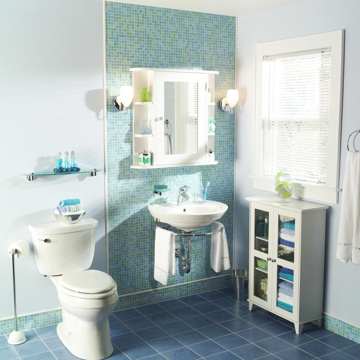 7 Tired Bathroom has Turned into Coastal themed Bathroom via Simphome After