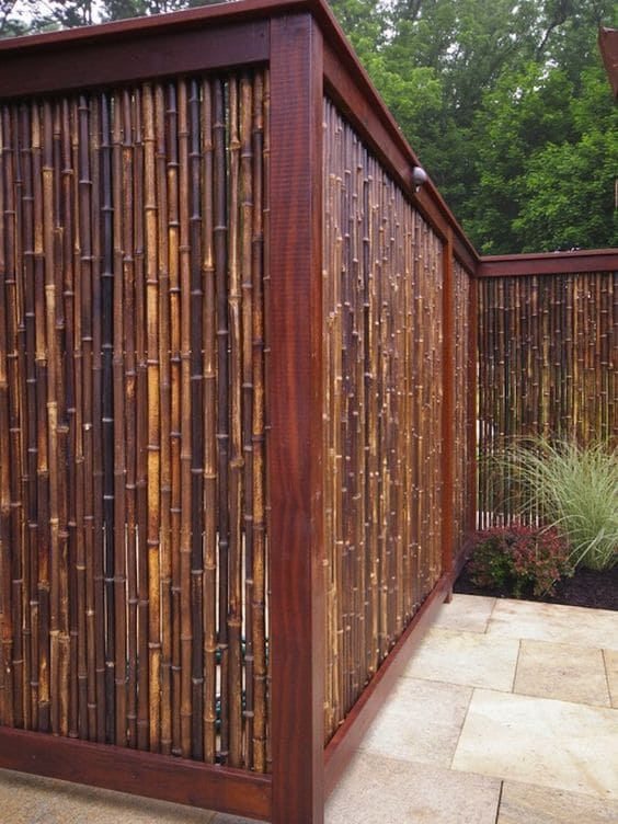 7. Bamboo and Plywood Fence Project Idea by Simphome.com