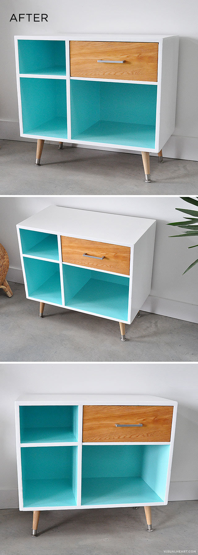 8 Mid century Modern Shelf via Simphome