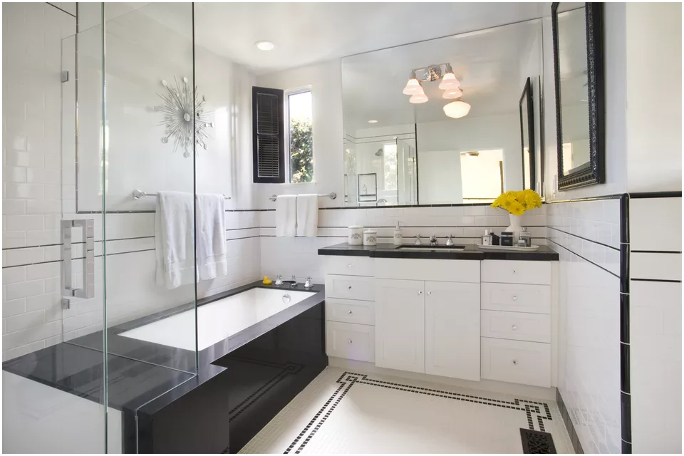 8 Old fashioned to Sleek Bathroom via Simphome After