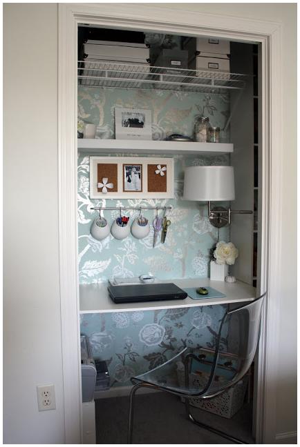 9 A Closet Office idea via Simphome com