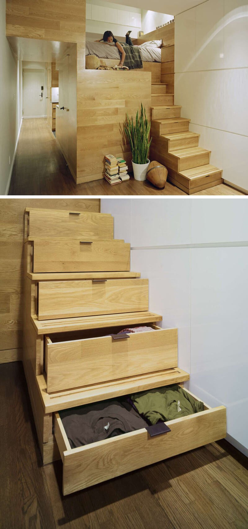 9 Genuine Staircase Storage Idea via simphome
