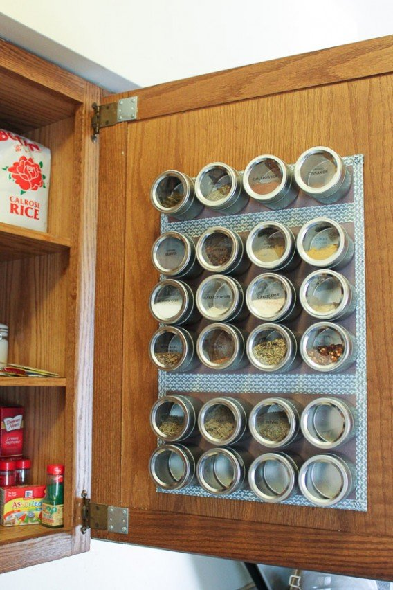 9 Magnetic Spice Rack via Simphome