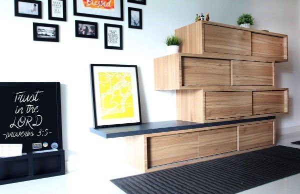 9 Stackable Wooden Cabinets via Simphome