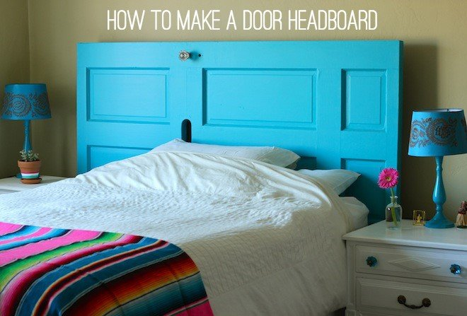 9 Turn an Old Door into a Headboard via Simphome