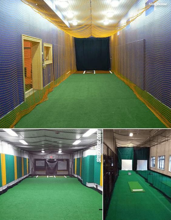 9.Indoor Batting Cage idea By Simphome.com