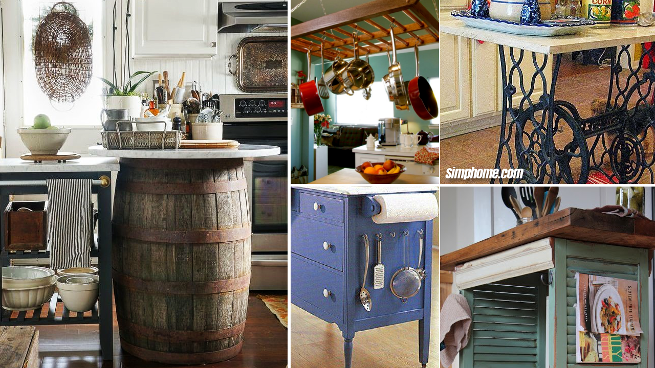 10 Furniture Upcycling Ideas for a Kitchen Space via Simphome.com Featured Image
