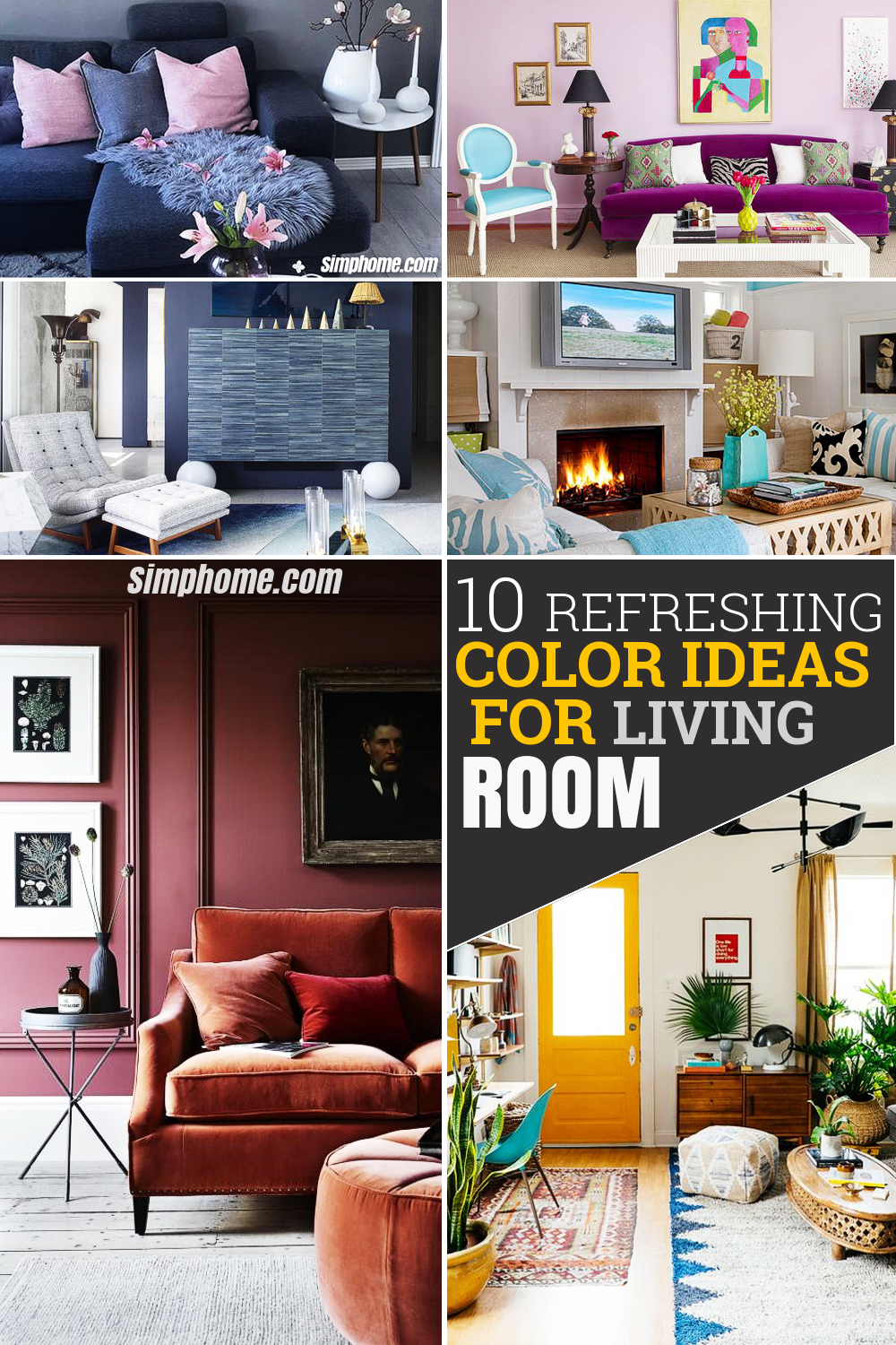 10 Refreshing Color Ideas for Living Room via Simphome Featured Pinterest