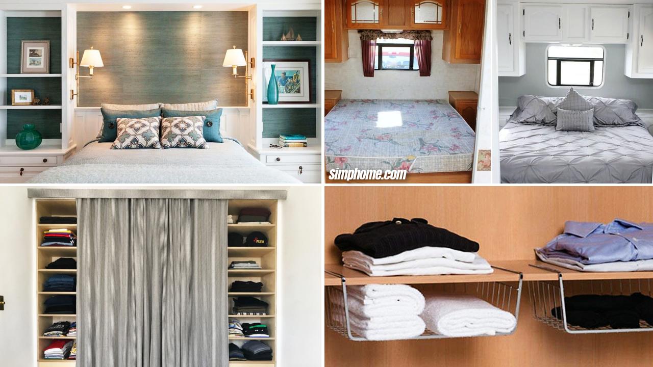 10 Smart Bedroom Cabinet Makeover Ideas via Simphome.com Featured image