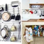 10 clever storage for a small kitchen idea via simphome
