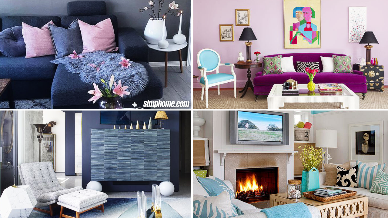 10 refreshing color ideas for living room via Simphome Featured Image