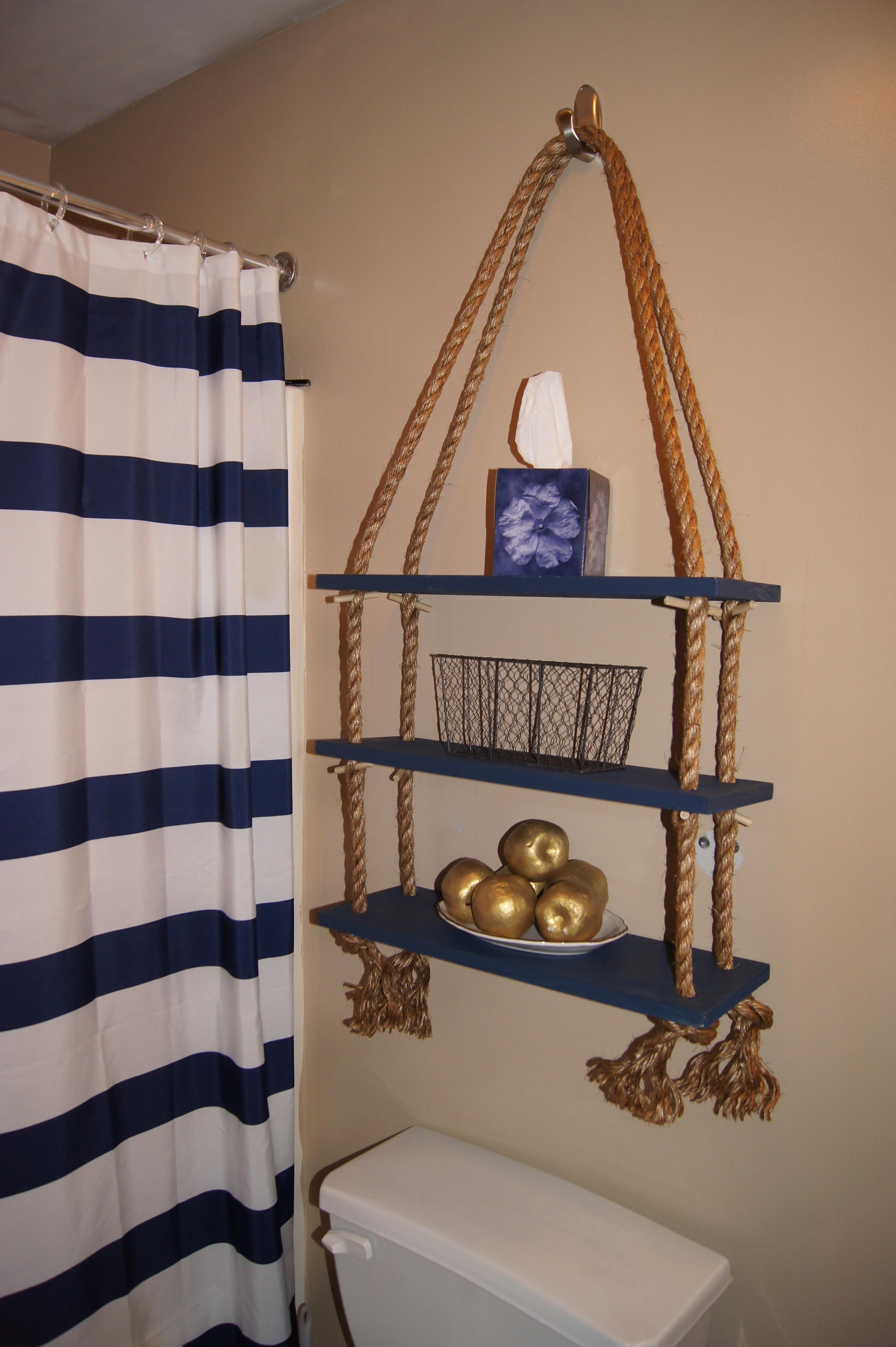 2. A Simple Hanging Shelf idea via Simphome