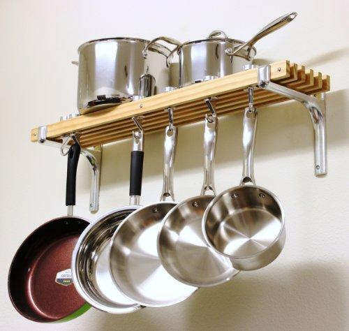 4. Optimize Your Open Shelf for your pots and pans via Simphome