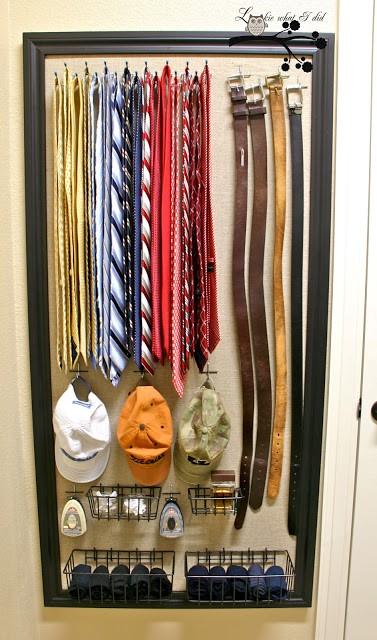 5. Tie and Belt Wall Art via Simphome