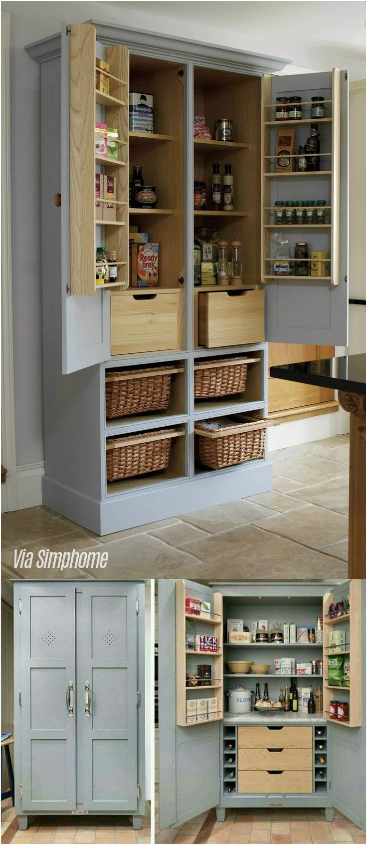 6. Cupboard to Pantry via Simphome.com