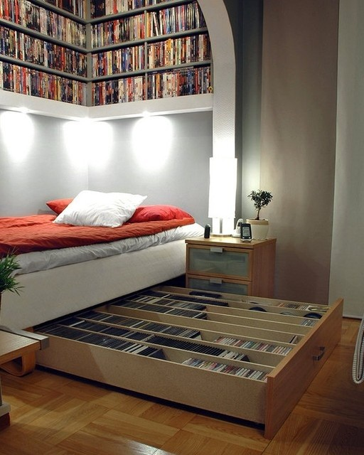 9. Clever DVD Collection Storage via Simphome