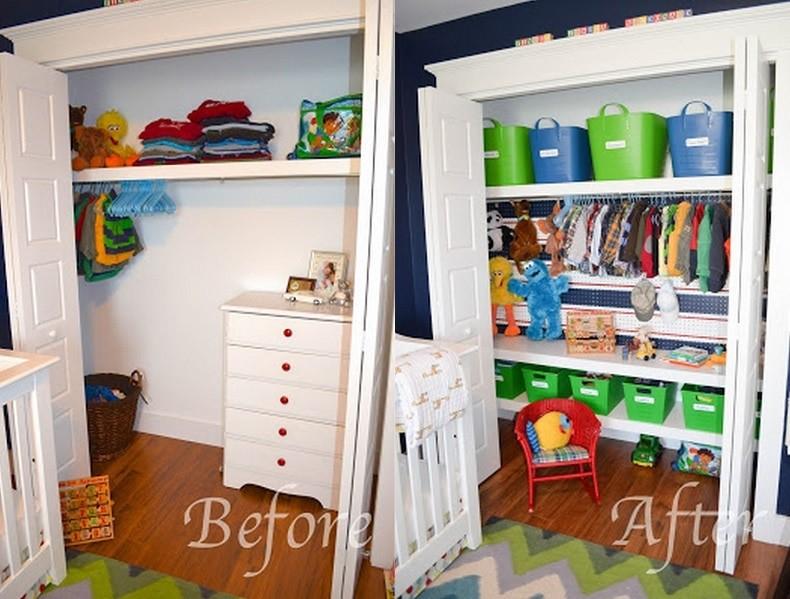 9. Hang a Pegboard in the Closet via Simphome