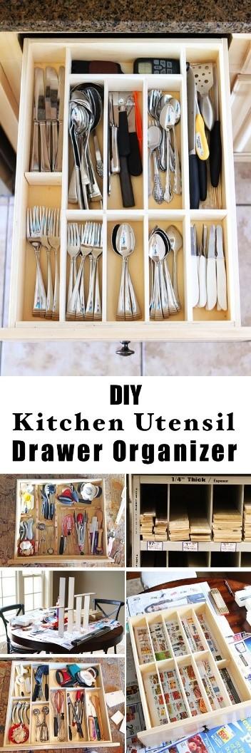 1. Kitchen Utensil Drawer Organizer via Simphome