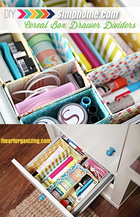 1.Organize Your Drawer via Simphome.com