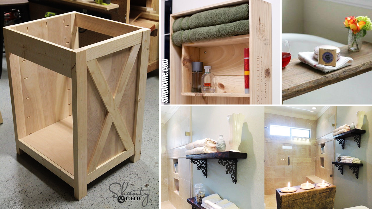 10 DIY Bathroom Storage Furniture via Simphome.com Featured Image