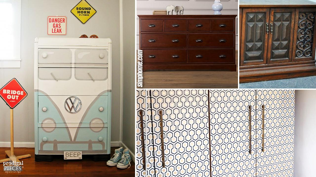 10 DIY Bedroom Cabinet Makeover on a Budget via Simphome.com Featured image