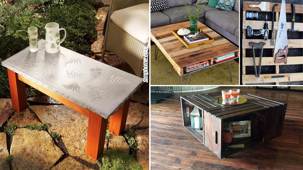 10 DIY Coffee Table on a Budget via Simphome.com Featured image