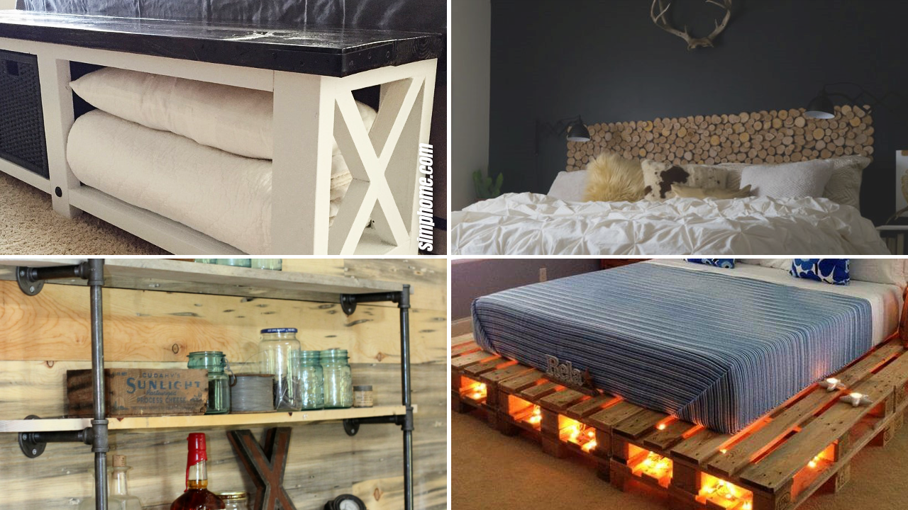 10 DIY rustic furniture projects via Simphome.com thumbnail featured