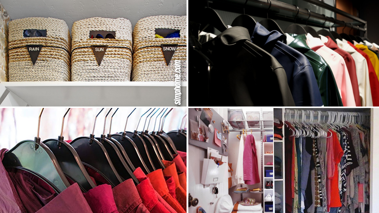10 declutter messy closet ideas via Simphome.com
