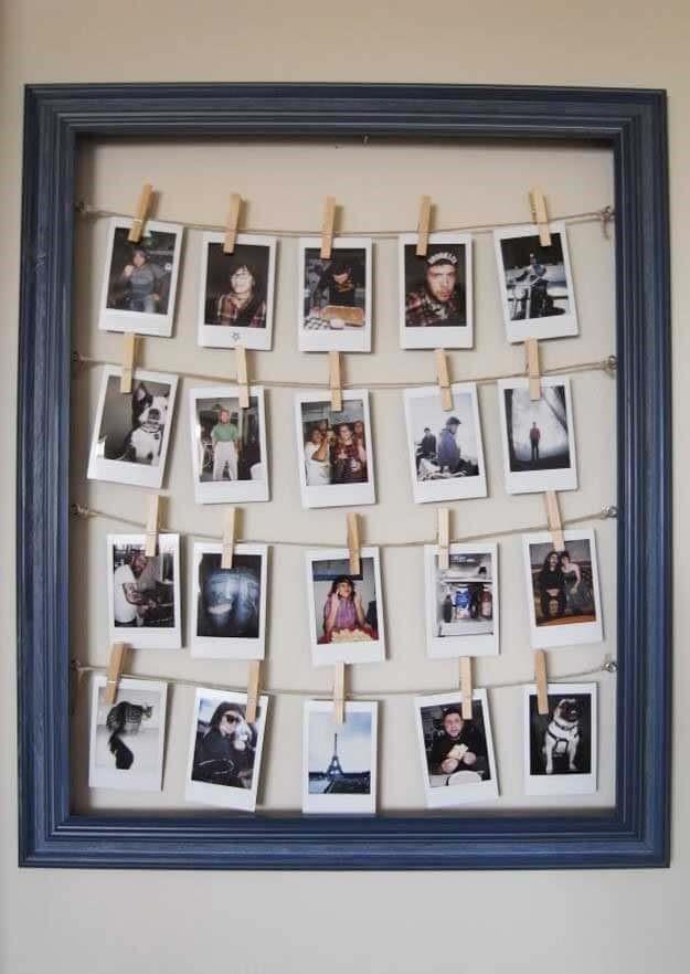 10. Clothesline Frame Idea via Simphome