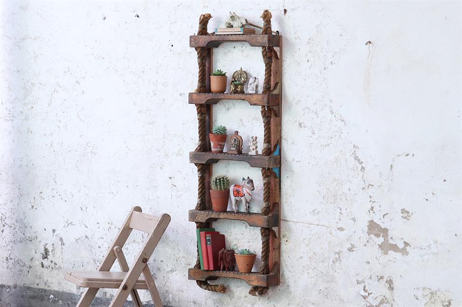 10. Ladder Shelves via Simphome