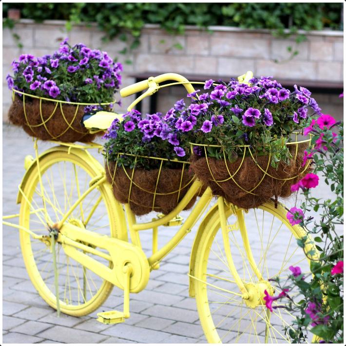 2. Bike Planters via Simphome