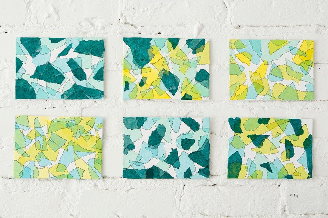 2. Colorful Tissue Wall Art via Simphome