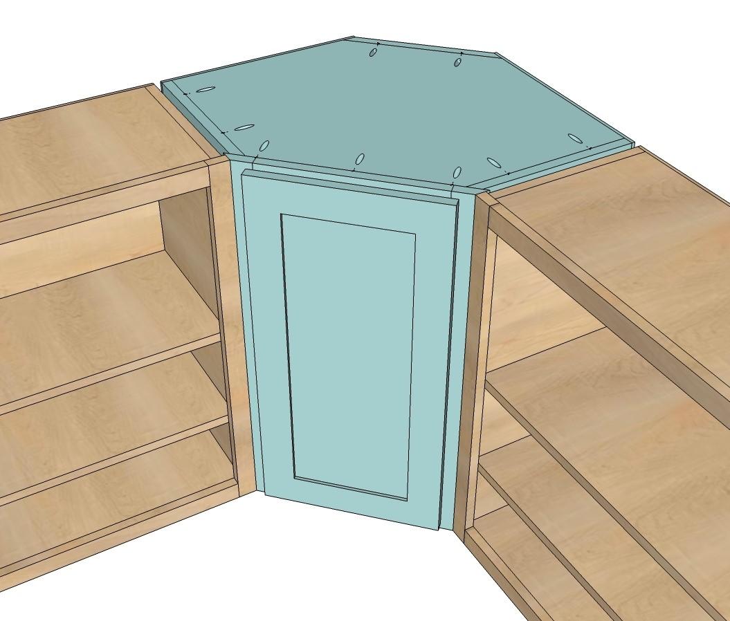 2. Corner Kitchen Cabinets via Simphome